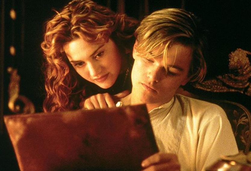 Kate and Leonardo in Titanic